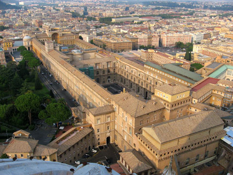Vatican City: The Vatican Museums seen from above