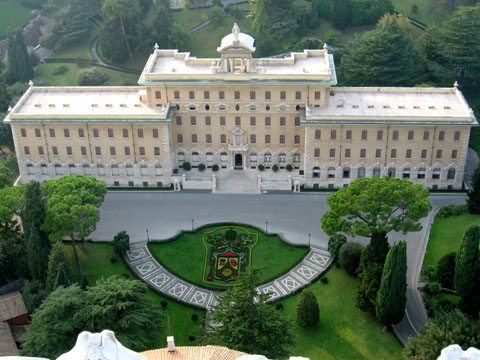 Vatican City: The Palace of the Governorate of Vatican City seen from above