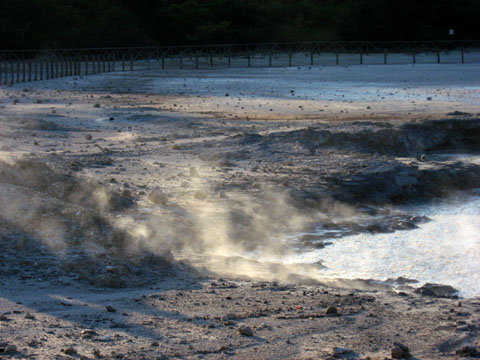 Pozzuoli: A bubbling mud pool in the crater of Solfatara