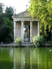 Rome: The Temple of Asclepius in the Villa Borghese gardens