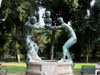 Rome: The fountain of the satyrs in the Villa Borghese gardens