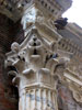 Rome: A Corinthian column behind the Pantheon