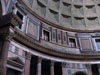Rome: A portion of the interior wall of the Pantheon that has been restored to its original appearance (the way it would have looked in Roman times)
