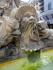 Rome: A closeup of the statues on the fountain