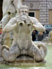 Rome: One of the tritons in the Fontana del Moro in the Piazza Navona