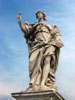 Rome: One of several statues on the Ponte Sant'Angelo, each of an angel holding an item related to the Passion
