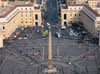Vatican City: A view of St. Peter's Square from above