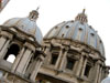 Vatican City: Two of the domes of St. Peter's Basilica