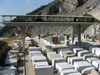 Carrara: Blocks of freshly quarried marble
