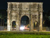Rome: The Arch of Constantine at night
