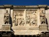 Rome: Closeup of some of the friezes on the Arch of Constantine