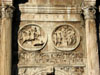 Rome: Closeup of two of the medallions on the Arch of Constantine