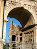 Rome: A view of the Colosseum through the Arch of Constantine