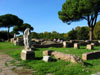 Ostia Antica: Statuary and ruins along the road