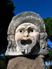 Ostia Antica: One of three sculpted theatrical masks decorating the theater