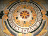 Rome: Detail of the marble floor in the Basilica of San Pietro in Vincoli