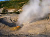 Pozzuoli: A fumarole spewing out sulfurous vapors in the crater of Solfatara